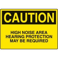 Ear Protection Signs - Caution High Noise Area