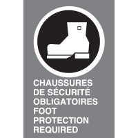 Bilingual CSA Signs - Chaussures De Securite Obligatoires Foot Protection Required