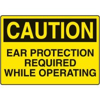 Ear Protection Signs - Caution Ear Protection Required