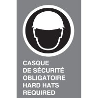 Bilingual CSA Signs - Casque De Securite Obligatoire Hard Hat Required