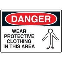 Protective Wear Signs - Danger Wear Protective Clothing in This Area