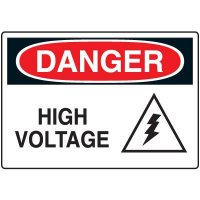 Electrical Hazard Signs - Danger High Voltage