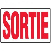 Enseignes d'Équipements Contre les Incendies et de Sortie - Sortie (Blanc)