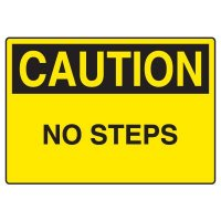 Fall Hazard Signs - Caution No Steps