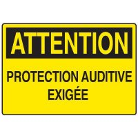 Enseignes de Sécurité - Attention Protection Auditive Exigee