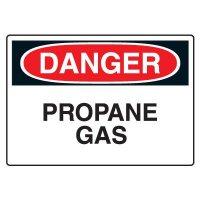 Propane Gas Danger Sign