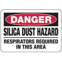Silica Dust Hazard Respirators Required - Silica Safety Signs