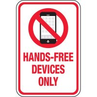 Hands Free Devices Only Signs