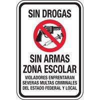 Drug Free Gun Free School Zone Spanish