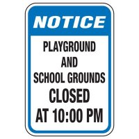 Playground And School Grounds Closed - Playground Sign