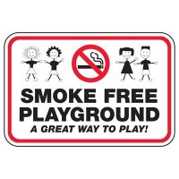 Smoke Free Playground - Playground Sign