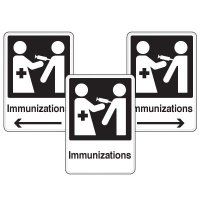 Health Care Facility Wayfinding Signs - Immunizations
