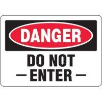 Eco-Friendly Signs - Danger Do Not Enter