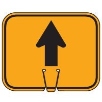 Traffic Cone Signs - Arrow Up