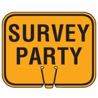 Traffic Cone Signs - Survey Party