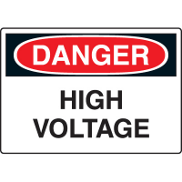 Harsh Condition Safety Signs - Danger - High Voltage