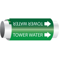 Setmark® Snap-Around Pipe Markers - Tower Water