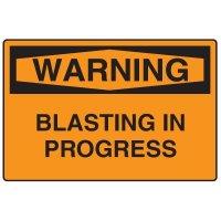 Snap Loop Signs - Warning Blasting In Progress
