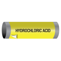 Ultra-Mark® Snap-Around High Performance Pipe Markers - Hydrochloric Acid