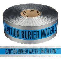 Underground Detectable Warning Tape - Caution Buried Water Line Below