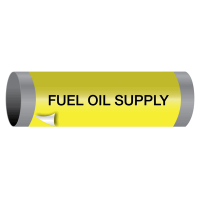 Ultra-Mark® Snap-Around High Performance Pipe Markers - Fuel Oil Supply