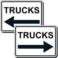 Reflective Parking Lot Signs - Truck (Left Arrow)