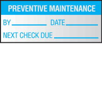 Preventative Maintenance Write On Self Debossing Labels