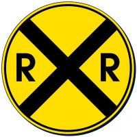 Reflective Traffic Signs - Railroad Crossing (Symbol)