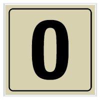 0 - Engraved Door Number Signs