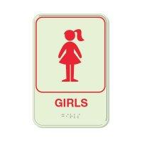 Girls - Glo Brite Braille Signs