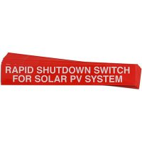Rapid Shutdown Switch Solar Warning Labels