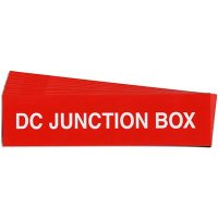 """DC Junction Box"" Solar Warning Labels"