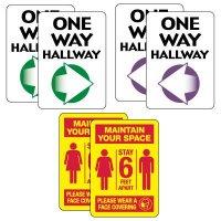 Social Distancing Signage Kit for Hallways #2