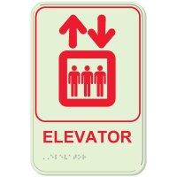 Elevator - Glo-Brite® ADA Braille Signs