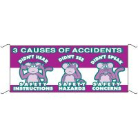 Safety Banners - 3 Causes Of Accidents