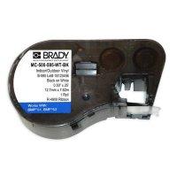 Brady MC-500-595-WT-BK BMP51/BMP41 Label Cartridge - Black on White