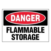 Ultra-Stick Signs - Danger Flammable Storage