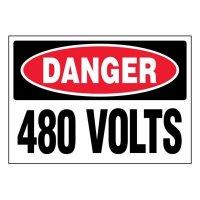 Ultra-Stick Signs - Danger 480 Volts