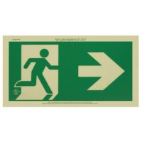 Running Man Signs - Arrow Right