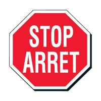 Facility Stop Sign - Stop Arret