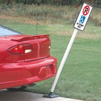 Flexible Post and Handicapped Sign
