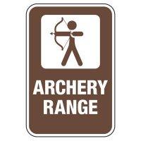 Archery Range - Athletic Facilities Signs