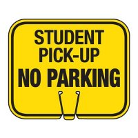 Student Pick-Up - Traffic Cone Signs