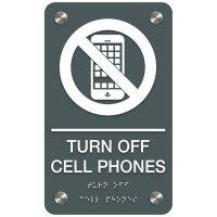 Turn Off Cellphones - Premium ADA Facility Signs