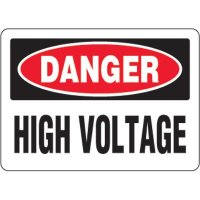 Eco-Friendly Signs - Danger High Voltage