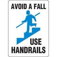 Eco-Friendly Signs - Avoid A Fall Use Handrails
