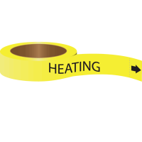 Roll Form Self-Adhesive Pipe Markers - Heating