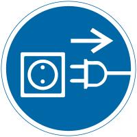 International Symbols Labels - Unplug Electrical Supply (Graphic)
