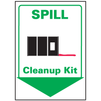 Spill Clean Up Kit Safety Equipment Location Marker
