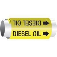 Setmark® Snap-Around Pipe Markers - Diesel Oil